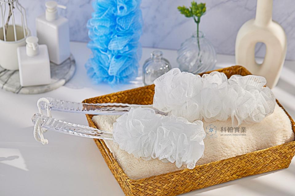 Wave Handle Bath Brush K-016 LS-1